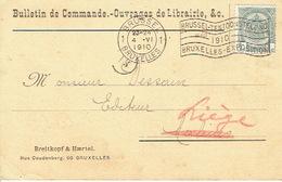 CP/PK Publicitaire BRUXELLES 1910 - BREITKOPF & HAERTEL - Librairie - Belgium