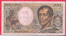 """200 Francs """"Montesquieu"""" 1987 ----F/TTB+---Série R.044 - 1962-1997 ''Francs''"""