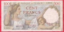 """100 Francs """"Sully"""" Du 02/04/1942.DX ----F/TTB+---Série G.29830---AUCUN TROU D EPINGLE - 1871-1952 Anciens Francs Circulés Au XXème"""