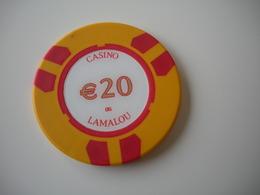 Casino Chip Fiche 20 €  Casino De Lamalou Les Bains France - Casino