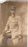 Photographie Militaire, Officier En 14-18, Commandant Du 14e Régiment D'artillerie Coloniale, Croix De Guerre Avec Palme - Guerre, Militaire