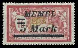 MEMEL 1922 Nr 69 Ungebraucht X88765E - Memelgebiet