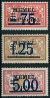 MEMEL 1922 Nr 49-51 Ungebraucht X88766A - Memelgebiet