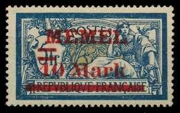 MEMEL 1921 Nr 38aI Postfrisch X8876E6 - Memelgebiet