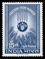 India, 1963, Freedom From Hunger, FAO, United Nations, MNH, Michel 352 - Inde