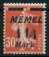 MEMEL 1922 Nr 87 Postfrisch X88775E - Memelgebiet