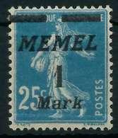MEMEL 1922 Nr 86 Ungebraucht X88776A - Memelgebiet