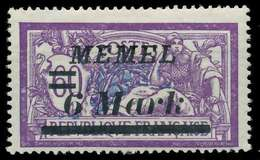 MEMEL 1922 Nr 92 Ungebraucht X88777A - Memelgebiet