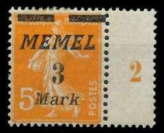 MEMEL 1922 Nr 110 Ungebraucht SRA X88779E - Memelgebiet