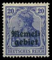 MEMEL 1920 GERMANIA Nr 4 Ungebraucht X8877C6 - Memelgebiet