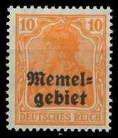 MEMEL 1920 GERMANIA Nr 14 Ungebraucht X8877CA - Memelgebiet