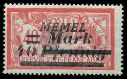 MEMEL 1922 Nr 60 Ungebraucht X8877E2 - Memelgebiet