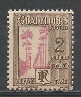 Guadeloupe 1928. Scott #J25 (M) Avenue Of Royal Palms * - Guadeloupe (1884-1947)