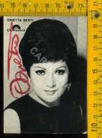 Personaggio Attore Attrice Cantante Musica Teatro Cinema Autografo Orietta Berti - Artisti