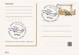 I0536 - Tschechoslowakei (1991) Bratislava 21: SLOVair Bratislava-Tatry-Kosice (Fluggesellschaft) - Usines & Industries