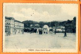 VAL108, Torino, Piazza Vittorio Veneto, Tramway, Circulée 1926 - Places