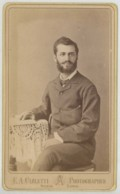 CDV Circa 1880 E. A. Carletti à Nicosie (Chypre). Cyprus . Homme Barbu . Dos Photographie Parisienne à Péra . - Photos