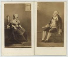 2 CDV 1860-70 Pesme à Paris . La Reine Marie-Antoinette Et Le Roi Louis XVI Emprisonnés à La Tour Du Temple . - Photos