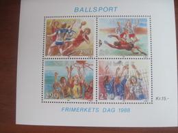 Norway 1988 Ball Games Basketball Footbal Handball Volleyball S/S MNH - Jumping