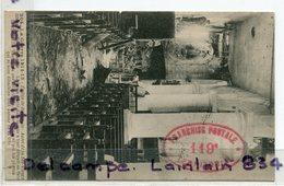 - MILITARIA, Cachet Militaire Ovale Rouge, 119 éme Territorial, Section 115, Sur Le Front, écrite, 1915, TBE, Scan. - Guerra Del 1914-18