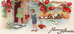 Image  Bonne Année Enfants - Old Paper
