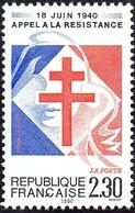 France Histoire N° 2656 ** 50 Eme Anniversaire De L'appel Du 18 Juin 1940 - 2. Weltkrieg