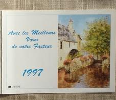 Petit Calendrier Poche 1997 Lavigne PTT Facteur  La Poste Moulin Manche - Petit Format : 1991-00