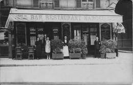 BAR RESTAURANT MARCEL - Le Personnel - Vers 1910 - Carte-photo à Situer - A Voir ! - Restaurants