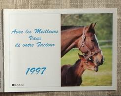 Petit Calendrier Poche 1997 Lavigne PTT Facteur  La Poste Jument Poulain - Petit Format : 1991-00