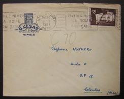 Nîmes Gare (Gard) G. César Place Du Marché 1951 - Marcophilie (Lettres)