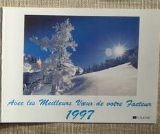Petit Calendrier Poche 1997 Lavigne PTT Facteur  La Poste Paysage Enneigé Auron Alpes Maritimes - Petit Format : 1991-00