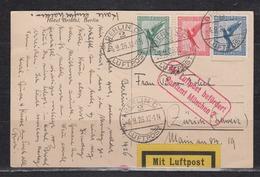 Dt.Reich Luftpostkarte Berlin 4.9.26 über Postamt München 2(roter LP-Kasten-o) Nach Zürich Mit MiF 378,379,380 - Luftpost