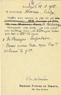CP/PK Publicitaire BRUXELLES 1908 - RAMLOT Frères Et Soeurs - Librairie - Belgium