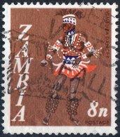 ZAMBIA, USI E COSTUMI, 1968, FRANCOBOLLO USATO Mi 43, Scott 43, YT 43 - Zambie (1965-...)