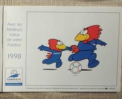 Petit Calendrier Poche 1998 Lavigne PTT Facteur  La Poste France Football Mascotte - Petit Format : 1991-00