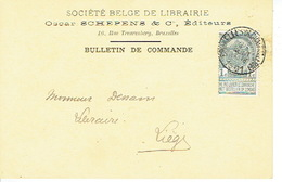 CP/PK Publicitaire BRUXELLES 1901 - SOCIETE BELGE DE LIBRAIRIE - Oscar SCHEPENS & Cie - Editeurs - Belgium