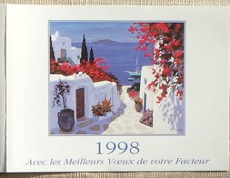 Petit Calendrier Poche 1998 Lavigne PTT Facteur  Peinture Carsuzan  En Allant Vers La Mer - Petit Format : 1991-00