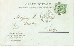 CP/PK Publicitaire BRUXELLES 1908 - Maurice SMAL - Papiers En Gros - Belgium