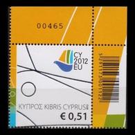 CYPRUS 2012 PRESIDENCY MNH STAMP - Chypre (République)