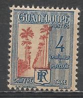 Guadeloupe 1928. Scott #J26 (M) Avenue Of Royal Palms * - Guadeloupe (1884-1947)
