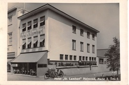 "CPA -  Pays Bas, HELMOND,  Hotel "" St Lambert "" Markt 2 - Carte Photo. - Helmond"