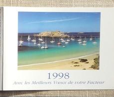 Petit Calendrier Poche 1998 Lavigne PTT Facteur  Ile D'Houat - Calendars