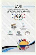 Lote PEP988, Colombia, 2016, Entero Postal, Postal Stationary, Postcard, Congreso Academias Olimpicas, Olympic Academies - Colombia