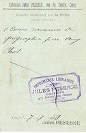 CP Publicitaire CINEY 1908 - Librairie Jules PESESSE - Editeur -  Imprimerie - Librairie - Ciney