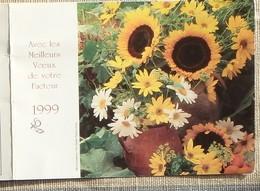 Petit Calendrier Poche 1999 Lavigne PTT Facteur Fleurs Tournesols - Petit Format : 1991-00