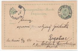 K.u.k. Bosnia, Postal Stationery Dopisnica Travelled 1902 Bosanski Šamac To Rohitsch B190110 - Bosnie-Herzegovine
