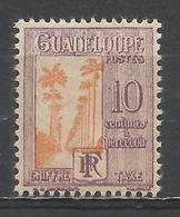 Guadeloupe 1928. Scott #J28 (M) Avenue Of Royal Palms * - Guadeloupe (1884-1947)