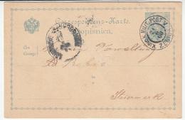K.u.k. Bosnia, Postal Stationery Dopisnica Travelled 1900 Zenica Pmk B190110 - Bosnie-Herzegovine