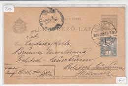 Hungary - Croatia, Postal Stationery Levelező-lap Travelled 1900 Fiume Pmk B190110 - Kroatië