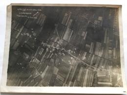 Photo Aerienne De Leugenboom Position Allemande Bombardement De Dunkerque ALVF - 1914-18